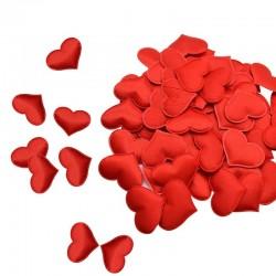 Satynowe płatki serduszka - konfetti - wesela / stoły / łóżka / dekoracja walentynkowa - 100 sztuk - 35mm