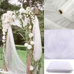 5m / 10m - tiul dekoracyjny - pokrowiec na krzesła weselne - tkanina w rolce