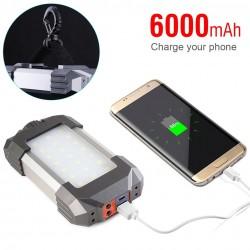 Portable lantern - camping / tent light - dimmable - emergency power bank - waterproof - 6000mAh