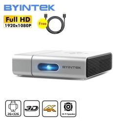 BYINTEK U50 / U50 Pro - Full HD - 1080P - 2K 3D 4K - Android - Wifi - Mini projektor LED DLP