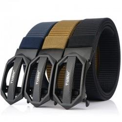 Tactical nylon belt with metal buckle - adjustable