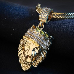 Crowned lion - necklace