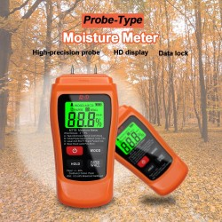 MT-18 - orange - digital tester - wood / paper moisture meter - wall moisture sensor - tester