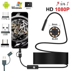 Endoscope camera - Android - PC - USB - HD 1080P - LED