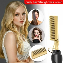 2 in 1 - Multifunktions-Haarglätter / Lockenwickler / Kamm - nasses / trockenes Haar