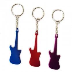 Flesopener met sleutelhanger - metalen gitaar