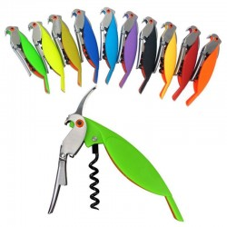 Bottle opener - corkscrew - parrot shape