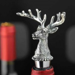 Deer head - wine bottle stopper - zinc alloy