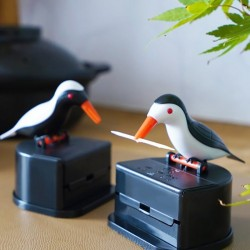 Automatic toothpick container - colorful bird