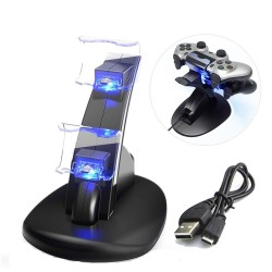 PS4 / Pro / Slim - Controller Ladestation - Ständer - Dual USB - LED