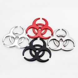 3D biohazard - metal emblem - car sticker