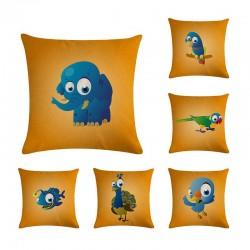 Cartoon animals - cushion cover - cotton - 45 * 45cm