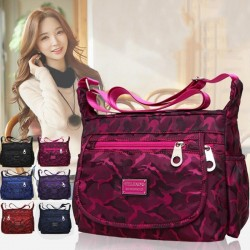 Elegant nylon shoulder bag - waterproof