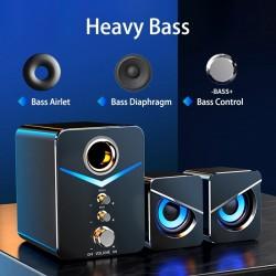 Zestaw głośników komputerowych - Bluetooth 5.0 - USB - dźwięk stereo - bas