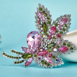 Crystal flower bouquet - brooch