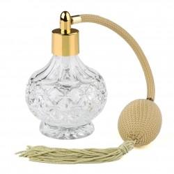 Szklana butelka na perfumy z vintage atomizerem w sprayu z pompką - 80 ml