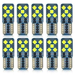 T10 W5W - żarówki LED - oświetlenie samochodowe - 12V - 10 sztuk