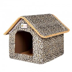 Foldable pet house with mat - dogs - cats