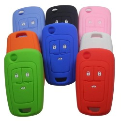 Silicone remote car key case cover - 3 buttons - Chevrolet Cruze