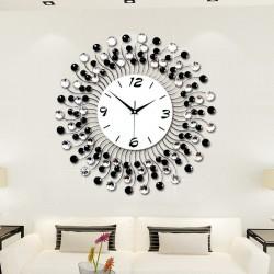 Nowoczesny kryształowy zegar ścienny - żelazny design