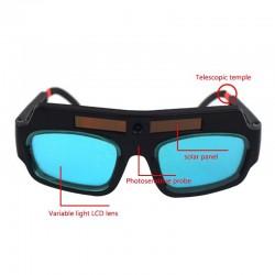 Op zonne-energie - automatische verduistering - lasbril - antischoklens - oogbescherming