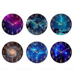 Modny szklany zegar ścienny - kwarc - kreatywny marmurowy wzór