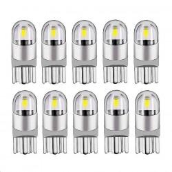 T10 - W5W - LED - żarówka samochodowa - 10 sztuk