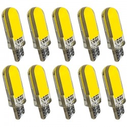 T10 - W5W - etui silikonowe - żarówki LED COB - 10 sztuk