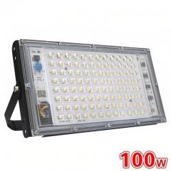 100W - AC 220V 230V 240V - Projecteur LED - IP65 étanche - réflecteur extérieur