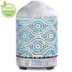 Air humidifier - essential oils diffuser - metal night lamp - 100ml