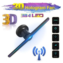 384 LED - 3D fan - 2 arms - hologram projector - advertising display - HiFi - remote