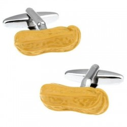 Yellow peanuts - cufflinks - 2 pieces