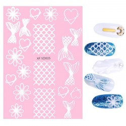 Nail art stickers - colorful flowers & cartoons