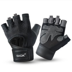 Gym gloves - with wrist strap - fitness - weight lifting