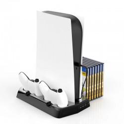 PS5 - 3 in 1 DE / UHD-Host - multifunktionale Ladestation - Lüftergriff - Aufbewahrungsfach für Spielediscs