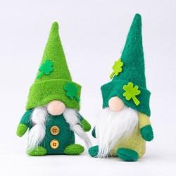 St. Patrick's Day - plush dwarf - toy - 2 pieces
