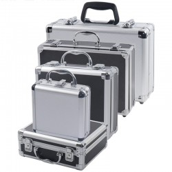 Portable - tools storage suitcase - aluminum box - impact resistance - with sponge
