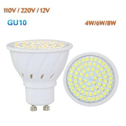 GU10 LED spotlight bulbs - 110V 220V 24V - 4W - 6W - 8W - 10 pieces
