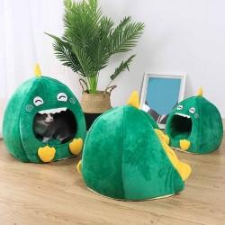Legowisko dla kotów / psów - buda dla zwierząt - w kształcie dinozaura