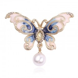 Crystal brooch - butterfly - hanger - leaves
