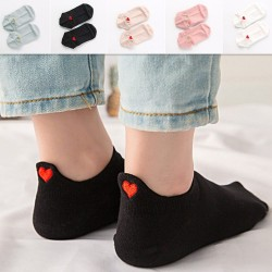 Short socks - ankle length - with a heart - unisex