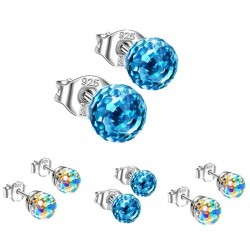 Small stud earrings - crystal disco ball