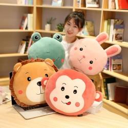 Cute lion / rabbit / monkey / frog plush toy - pillow - decoration