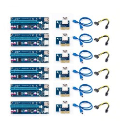 PCI-E riser card 006C - bitcoin miner - 1x to 16x - USB 3.0