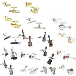 Musical instruments - brass cufflinks