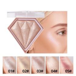 Puder do konturowania twarzy - rozświetlacz - paleta