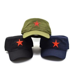 Baseball cap - army hat - with a red star