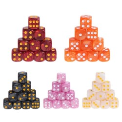 Acrylic polyhedral dice - board game dice - 10pcs/set