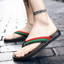 Leather slippers - flip...