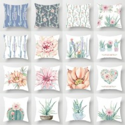 Plant watercolor painting - cushion cover - 45 * 45cm